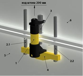 приспособление для отрыва колокола от поддона