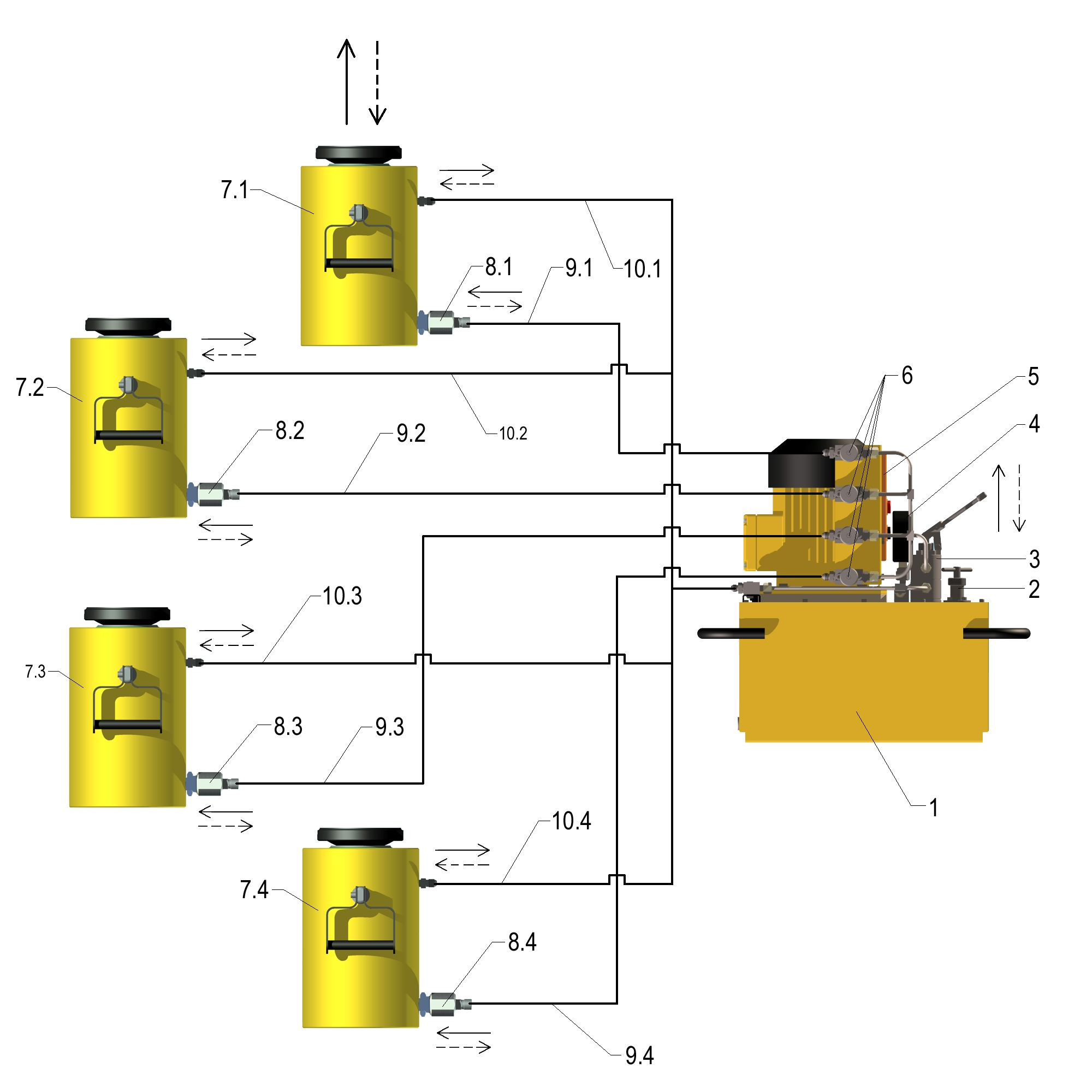 Гидропривод комплектный монтажный ELMO-ГМ 100х4%2F50
